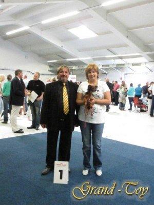 Unsere Ergebnisse auf  INTERNATIONALE Rassehunde-Ausstellung in Gießen  am 02.09.2012.