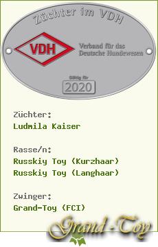 Wir züchten Russkiy Toy im VDH/ FCI!